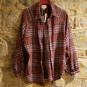 American eagle sz medium flannel nwt